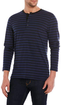 Kenneth Cole Black Label Striped Sueded Jersey Tee