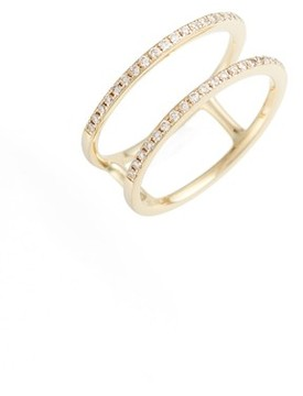 Ef Collection Women's Double Row Diamond Ring