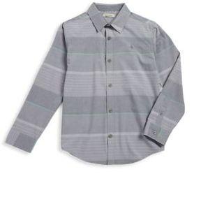 Calvin Klein Jeans Boy's Inter-Striped Button-Down Shirt