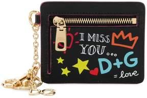 Dolce & Gabbana graffiti print zip purse