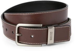 Kenneth Cole Reaction Black & Brown Reversible Stitch Belt