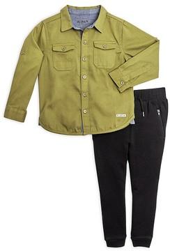 Hudson Boys' Button-Down Shirt & Joggers Set - Little Kid