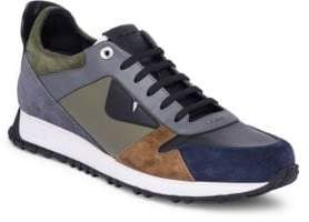 Fendi Monster Suede & Leather Trainers