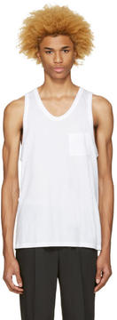 Alexander Wang White Pocket Tank Top