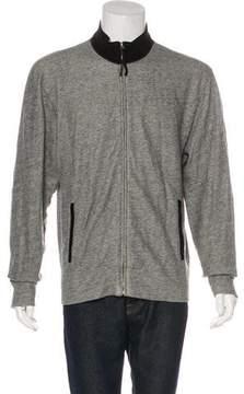 Billy Reid Suede-Trimmed Knit Sweatshirt