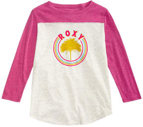 Roxy Long-Sleeve Printed T-Shirt, Big Girls