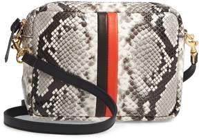 Clare Vivier Midi Sac Python Embossed Leather Crossbody Bag