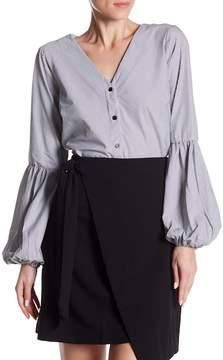 ECI Victoria V-Neck Long Sleeve Blouse