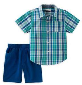 Kids Headquarters Baby Boy's Button-Down Shirt and Short Set