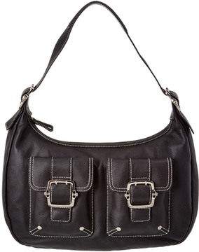Longchamp Leather Satchel - BLACK - STYLE