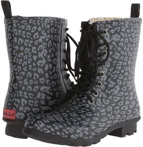 Chooka Leopard Combat Rain Boot
