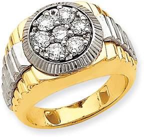 Ice 14k Two-tone AA Diamond men's ring