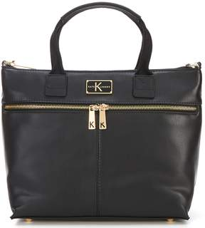 Kate Landry Sporty Top Zip Tote Bag