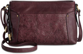 Giani Bernini Sandalwood Tooled Crossbody, Created For Macy's