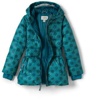 Lands' End Lands'end Girls Midweight Down Printed Parka
