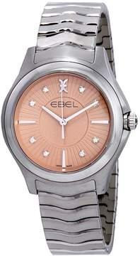 Ebel Wave Grande Pink Galvanic Diamond Dial Ladies Watch