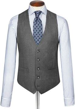 Charles Tyrwhitt Mid Grey Twill Business Suit Wool Vest Size w36