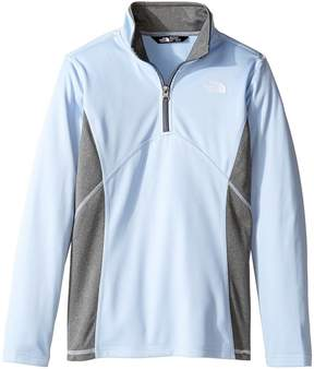 The North Face Kids Tech Glacier 1/4 Zip Girl's Long Sleeve Pullover