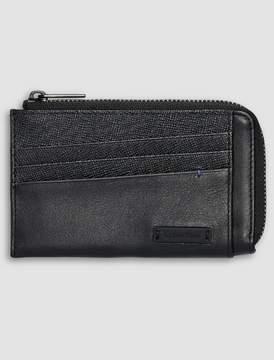 Calvin Klein contrast leather zip card holder wallet