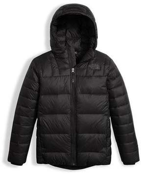 The North Face Boys' Double Down Zip-Up Hooded Jacket, Black, Size XXS-XL