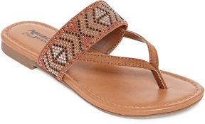 Arizona Rose Girls Flat Sandals - Little Kids