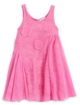 Flapdoodles Little Girl's Patch Tulle Dress
