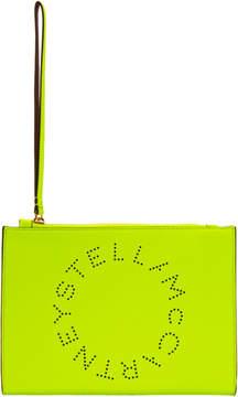Stella McCartney Yellow Fluo Logo Clutch