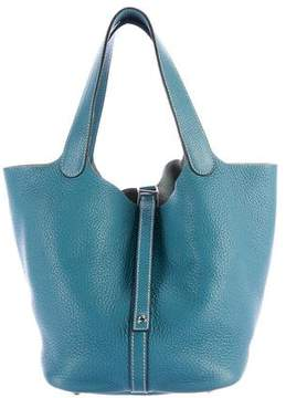 Hermes Clemence Picotin PM - BLUE - STYLE