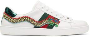 Gucci White Dragon Ace Sneakers
