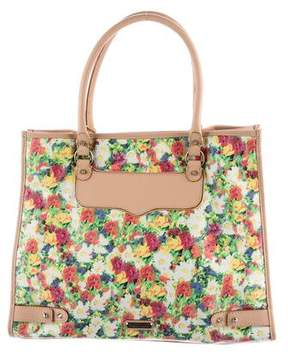 Rebecca Minkoff Floral Canvas MAB Tote - GREEN - STYLE