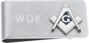 Asstd National Brand Personalized Masonic Emblem Money Clip