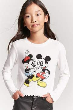Forever 21 Girls Minnie & Mickey Mouse Top (Kids)