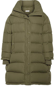 Balenciaga Oversized Quilted Shell Down Coat - Army green