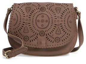 Shiraleah Dakota Faux Leather Saddle Bag - Grey