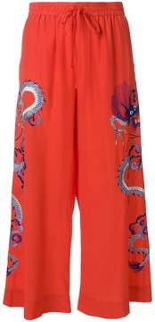 P.A.R.O.S.H. embroidered cropped trousers