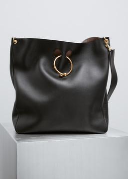 J.W. Anderson black large hobo pierce bag