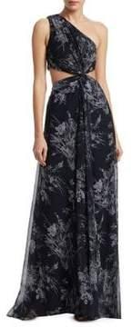 Cinq à Sept Goldie Inky Floral Gown