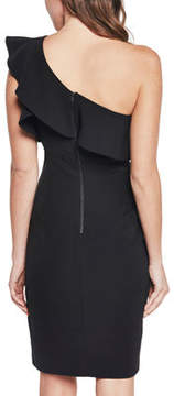 Bardot One-Shoulder Ruffled Dress