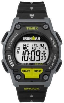 Timex Men's Ironman Endure 30 Black/Lime Watch, Resin Strap