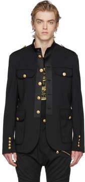 Pierre Balmain Black Military Blazer