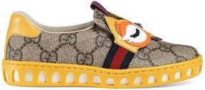 Gucci Toddler GG Supreme sneaker with owl
