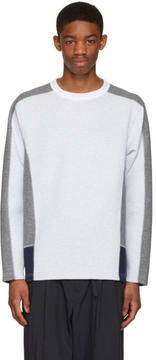 Kolor Off-White Contrast Pullover