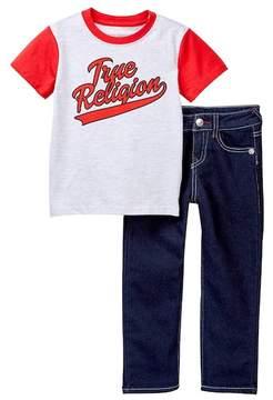 True Religion Baseball Tee & Jeans Set (Toddler Boys)