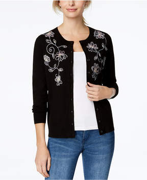 Charter Club Beaded Embroidered Cardigan, Created for Macy's