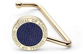 Aspinal of London Handbag Hook In Midnight Blue Lizard