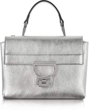 Coccinelle Silver Pebbled Leather Arlettis Mini Bag w/Shoulder Strap