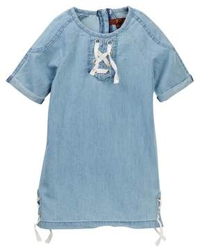 7 For All Mankind Lace-Up Dress (Little Girls)