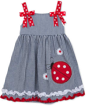 Rare Editions Ladybug Gingham Seersucker Dress, Little Girls