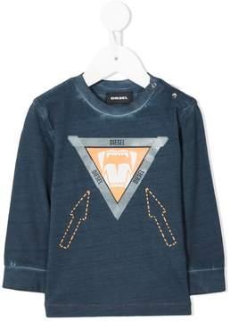 Diesel triangular logo longsleeved T-shirt