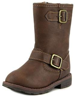 Carter's Aqion Toddler Round Toe Canvas Brown Mid Calf Boot.